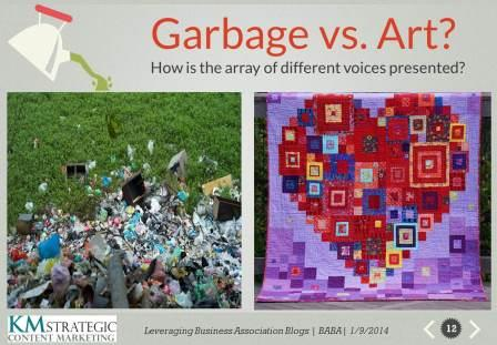garbage vs. art